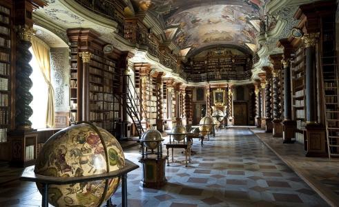 照片,图书馆,书籍,复古