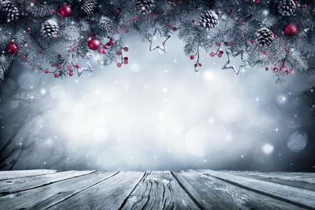 假期,新年,圣诞节,板,分支机构,云杉,针,锥,浆果,玩具,装饰,雪