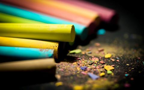 蜡笔,明亮,颜色,刨花