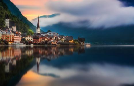 哈尔施塔特,美丽的山脉
