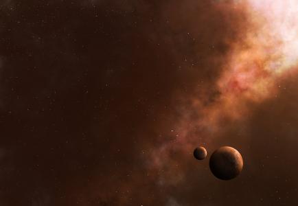 空间,星球,星星,卫星,有雾,艺术