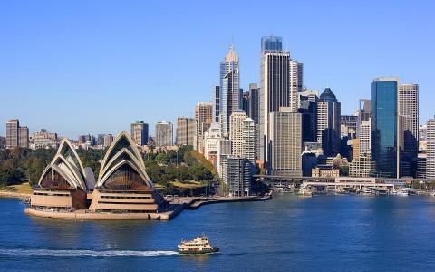 城市,悉尼,海洋,水