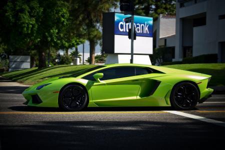 绿色,兰博基尼,lp700-4,绿色,兰博基尼,aventador,aventador
