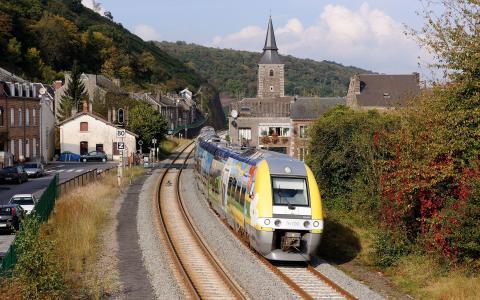 铁路,电车,Vire-Molin,法国