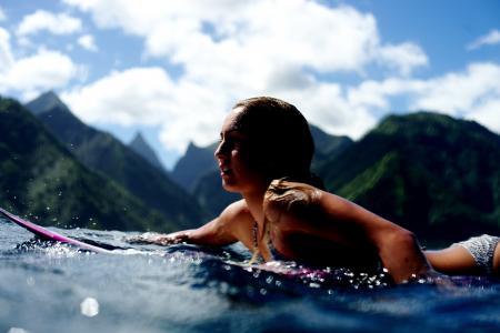 鲁西族,冲浪,高山,美女,海洋