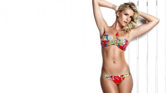 安娜·希克曼,性感,身材,腰,泳装,腿,姿势,脸,看,嘴唇,眼睛,模型,美女