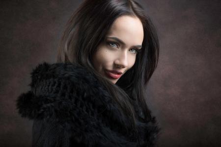 女孩,模特,摄影师,Joachim Bergauer,黑发,肖像,看