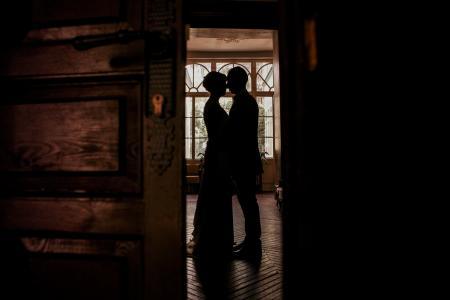 房间,剪影,恋人,情侣