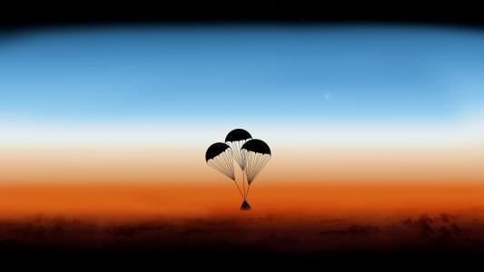 静谧天空之孤独的热气球