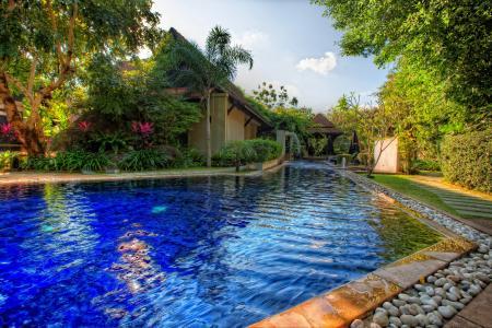 房屋,酒店,游泳池