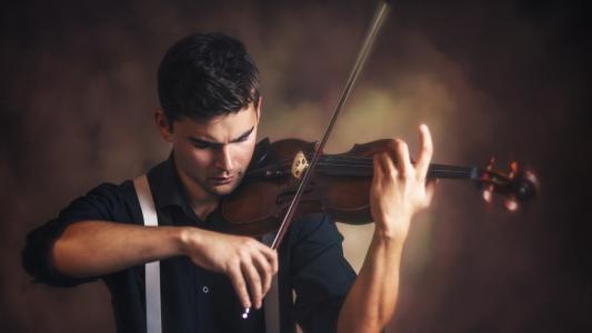 男孩,小提琴