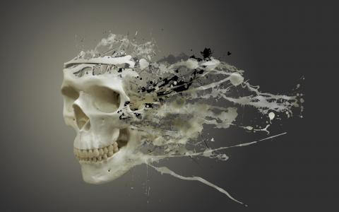 背景,头骨,污点,污渍