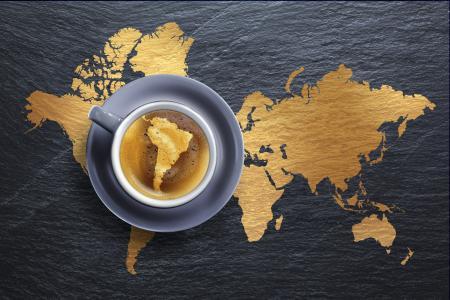 泡沫,饮料,咖啡,创意,杯子,大洲,飞碟