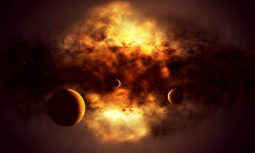 生于一颗恒星,恒星,光线,行星