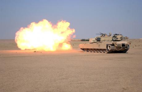 艾布拉姆斯,枪,射击,武器,坦克,沙漠,主,m1a1,艾布拉姆斯
