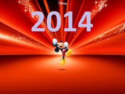 新年,新年,米老鼠,假日
