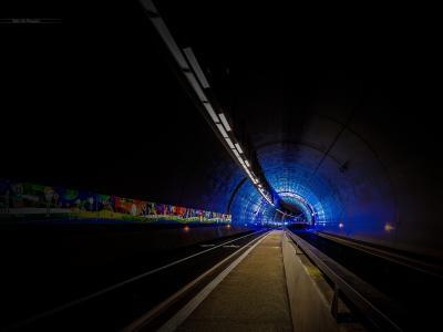 地铁,隧道,里昂,法国