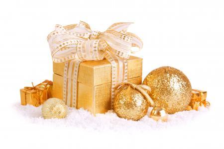 棉花,圣诞玩具,盒子,弓