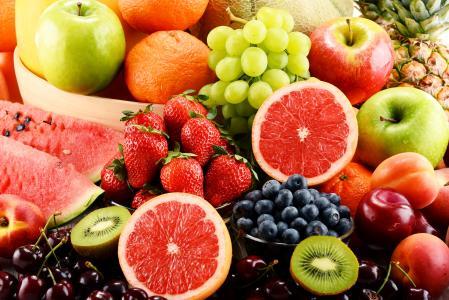 水果,葡萄,蓝莓,苹果,橙,猕猴桃