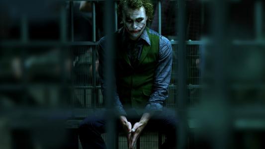 黑暗骑士,监狱,黑暗骑士,小丑,蝙蝠侠,小丑,贝尔曼