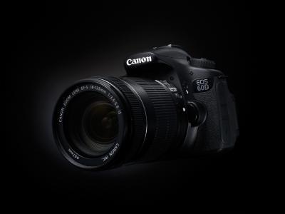相机,60D,黑色背景,佳能