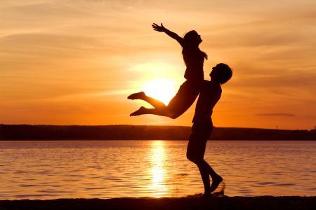 爱,自由,感情,情侣,日落淫荡,激情,快乐