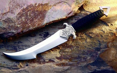 冷,武器,匕首,背景,铁矿石,照片,创意