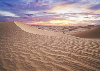 天空,沙滩,沙漠
