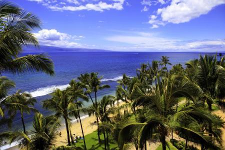 热带,夏威夷,大海,云,夏天