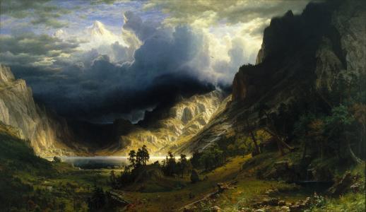 艺术,绘画,天空,云彩,风景,幻想