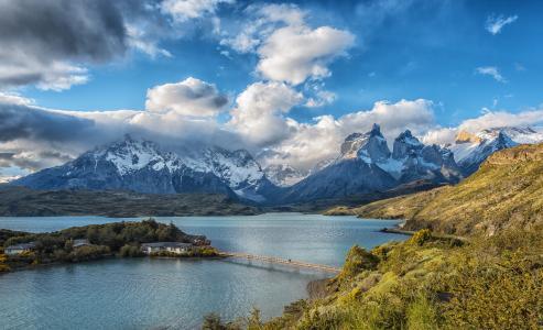 云,湖,托雷斯德尔潘恩,智利,性质