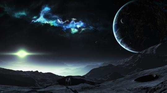 表面,行星,空间,艺术家