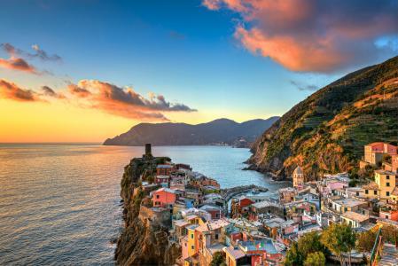 韦尔纳扎,五渔村,利古里亚,意大利,利古里亚海