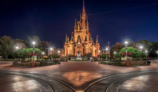 迪斯尼,公园,休息,城堡,美容,迪斯尼乐园