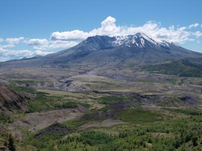 山,圣海伦,火山,山,沙漠,破坏,冰川,华盛顿
