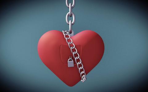情人节,庆祝活动,心,锁