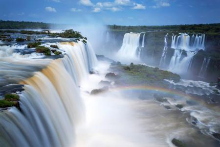 阿根廷,瀑布,伊瓜苏,瀑布,自然