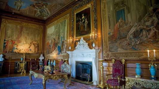 壁炉,图片,时钟,扶手椅,花瓶,博物馆,表,绘画