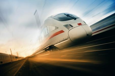火车,机车,路,速度,美女