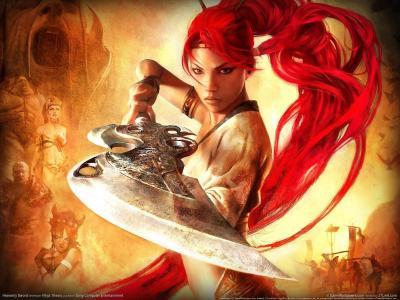 女战士,矛头