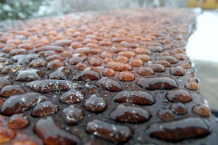 宏观照片主题,水分,水,霜,冬天,美丽,金属