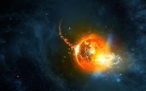 星星,异常,行星,星云,地球