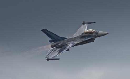 一般,F  -  16,猎鹰,战斗机,战斗,动态