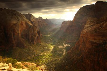 大自然,峡谷,美丽,天空,阴,天窗