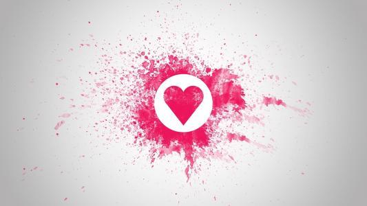 粉红色的打印,圈子,心脏
