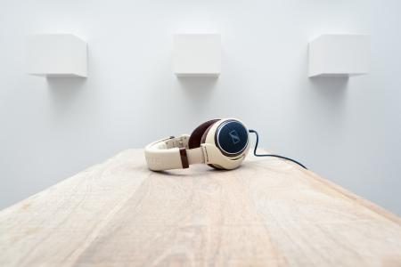 耳机,表,森海塞尔hd598,高科技,墙