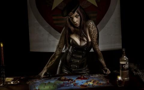 原,游戏,女人,风险,董事会,纹身,模仿