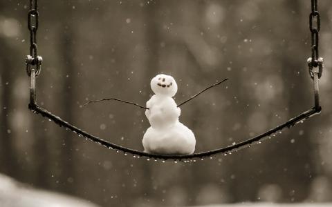 假日,新年,框,玩具,球,球,针,分支,云杉,雪,雪花,珠子,礼物,盒子