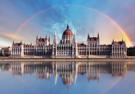 布达佩斯,城市,城堡,河