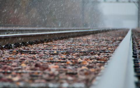重点,铁路,雪,金属